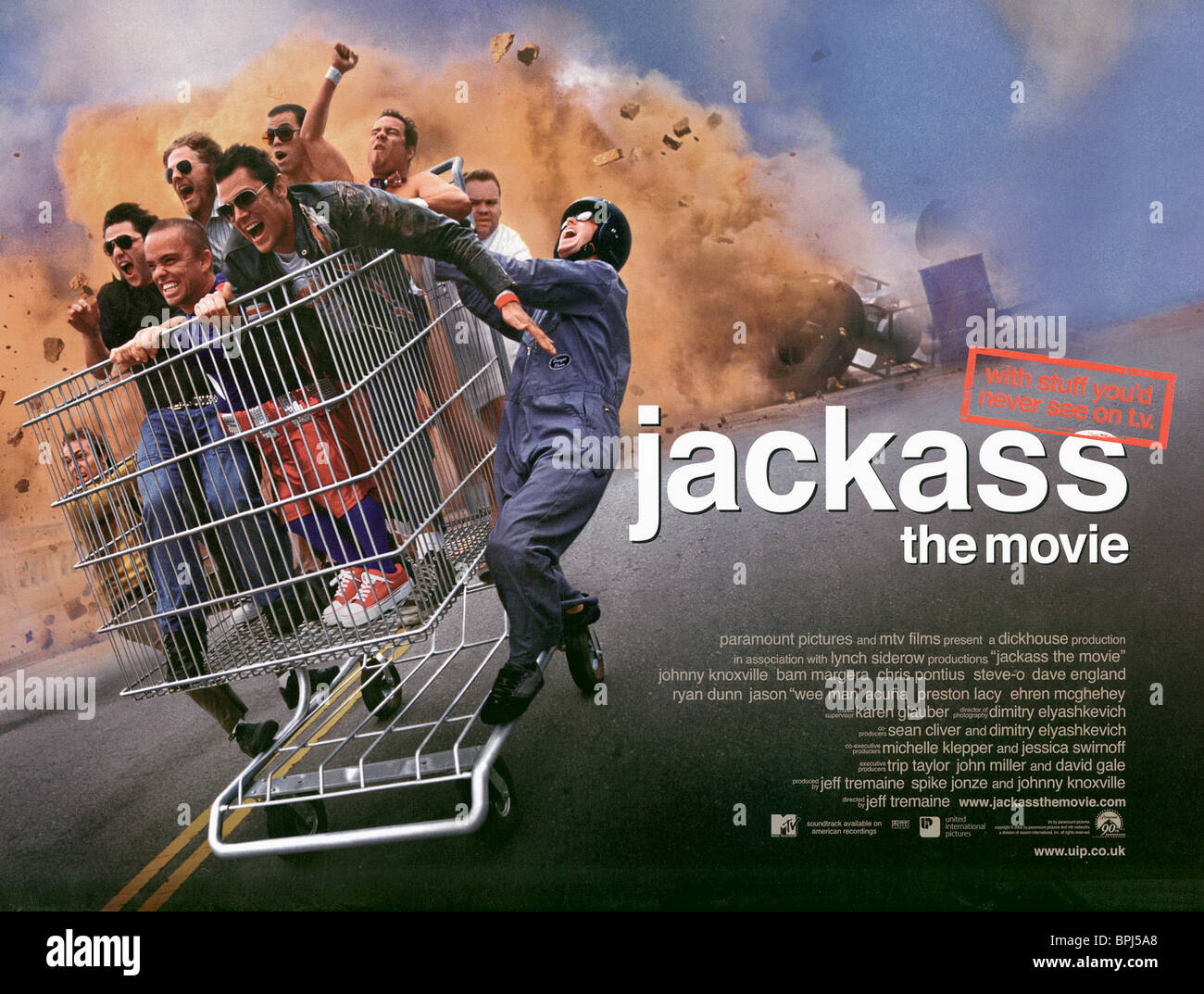 Wee Man Johnny Knoxville Steve O Jackass The Movie 2002