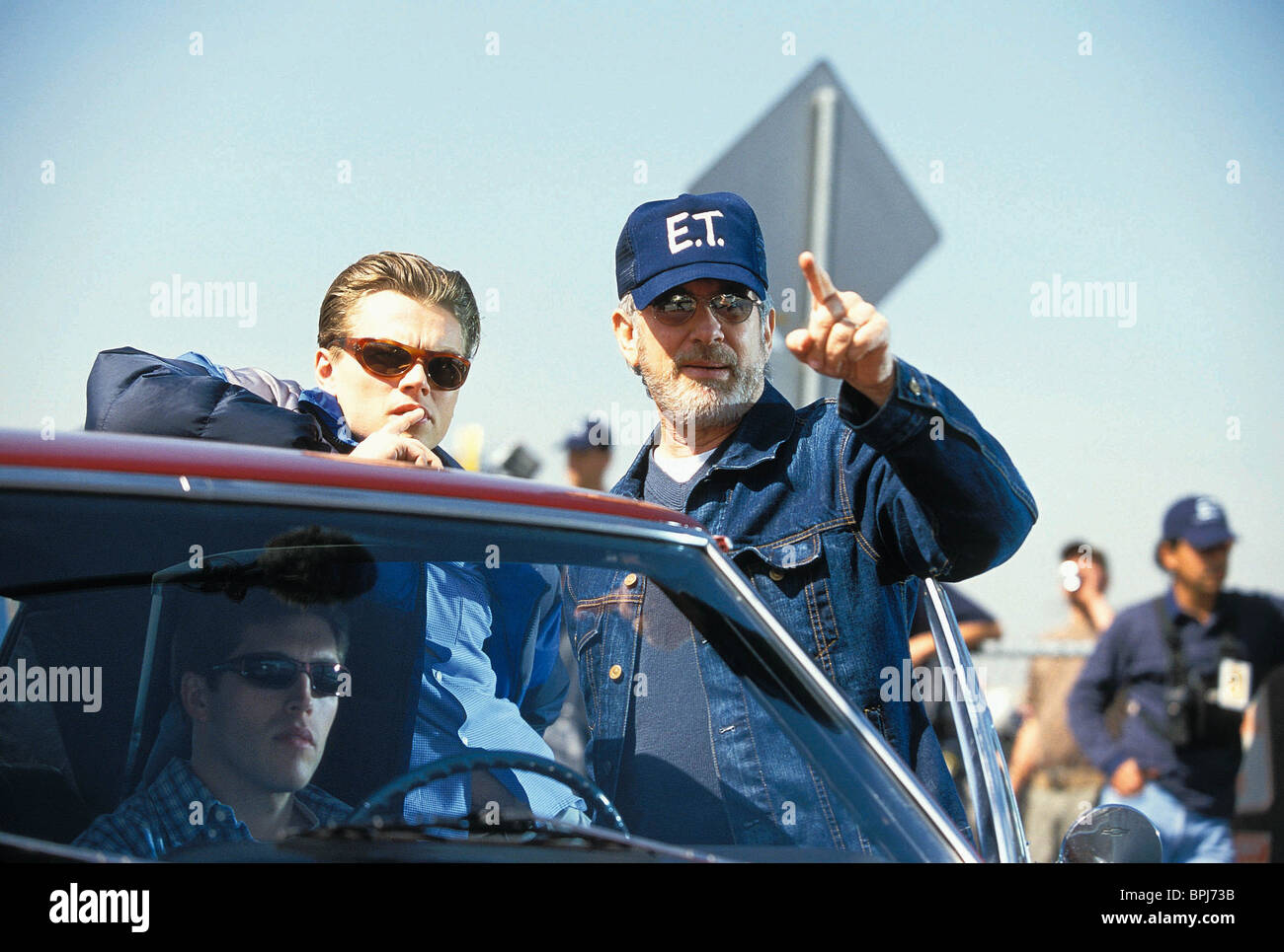 Leonardo Dicaprio Steven Spielberg Catch Me If You Can 2002 Stock Photo Alamy
