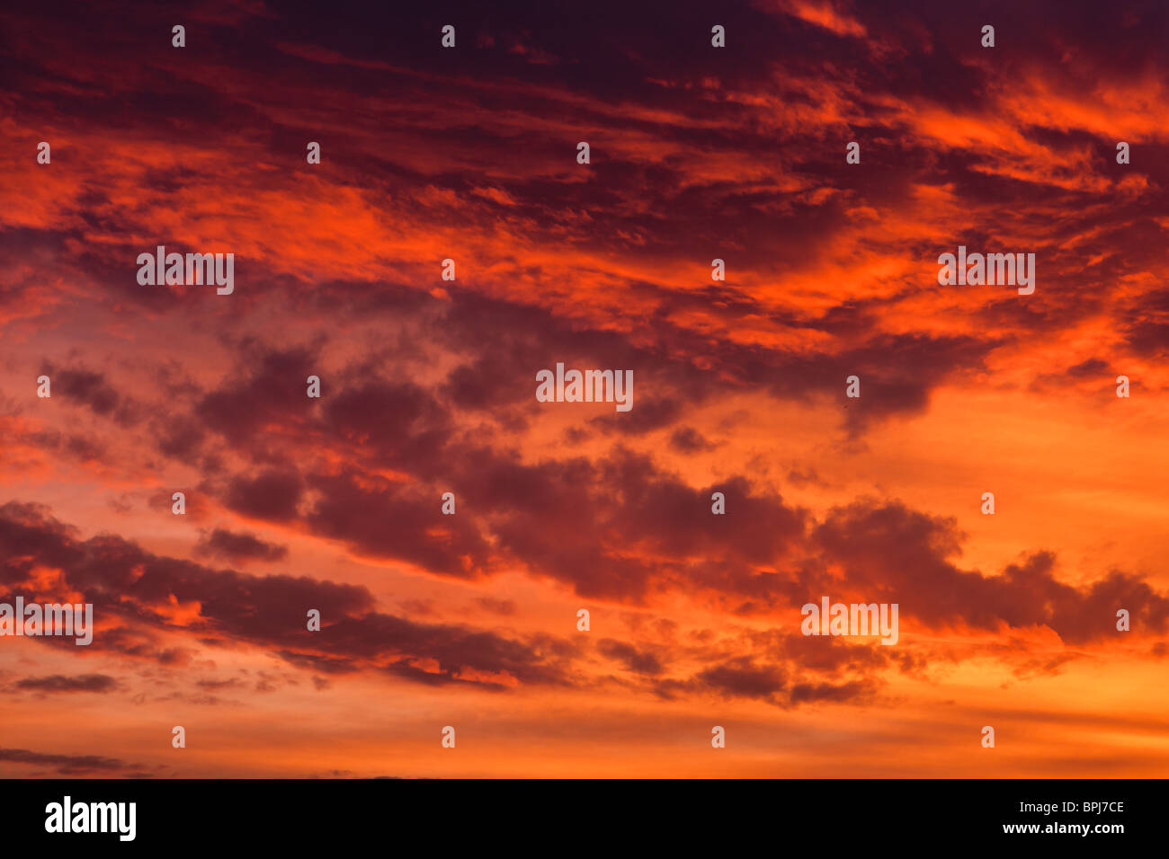 Colorful skyscape at sunset. - Stock Image