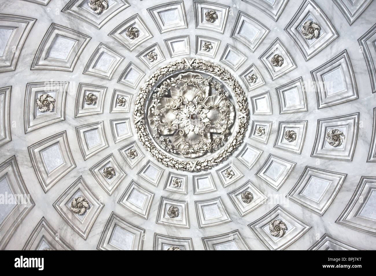 Details of the ceiling at The Royal Palace at Caserta, Italy Stock Photo
