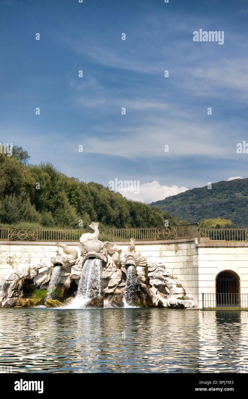 Fountain at Caserta Royal Palace, Italy Stock Photo
