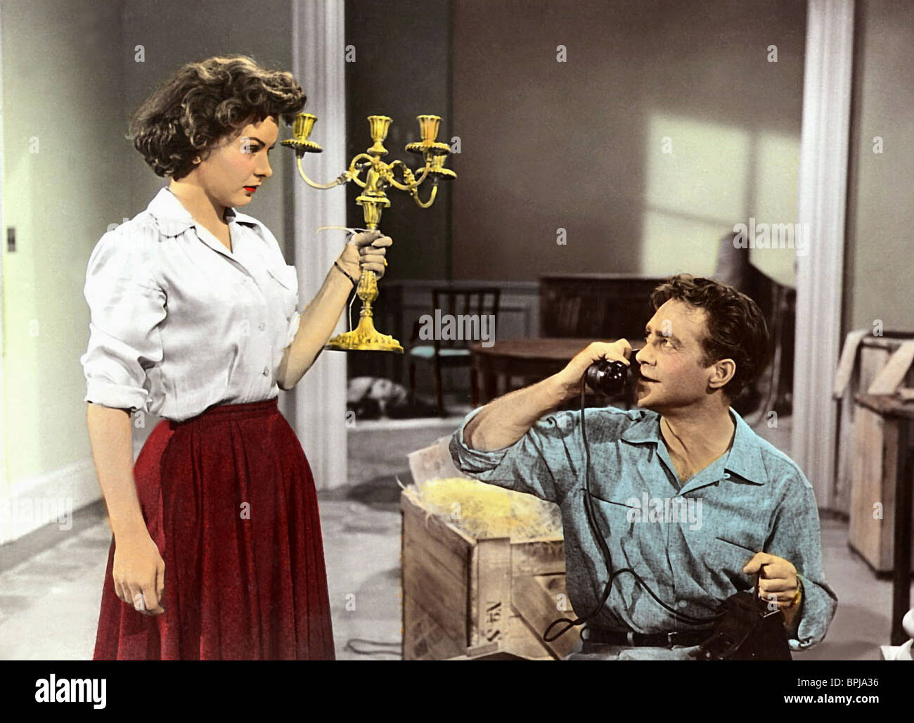 JEAN PETERS, RICHARD TODD, A MAN CALLED PETER, 1955 - Stock Image