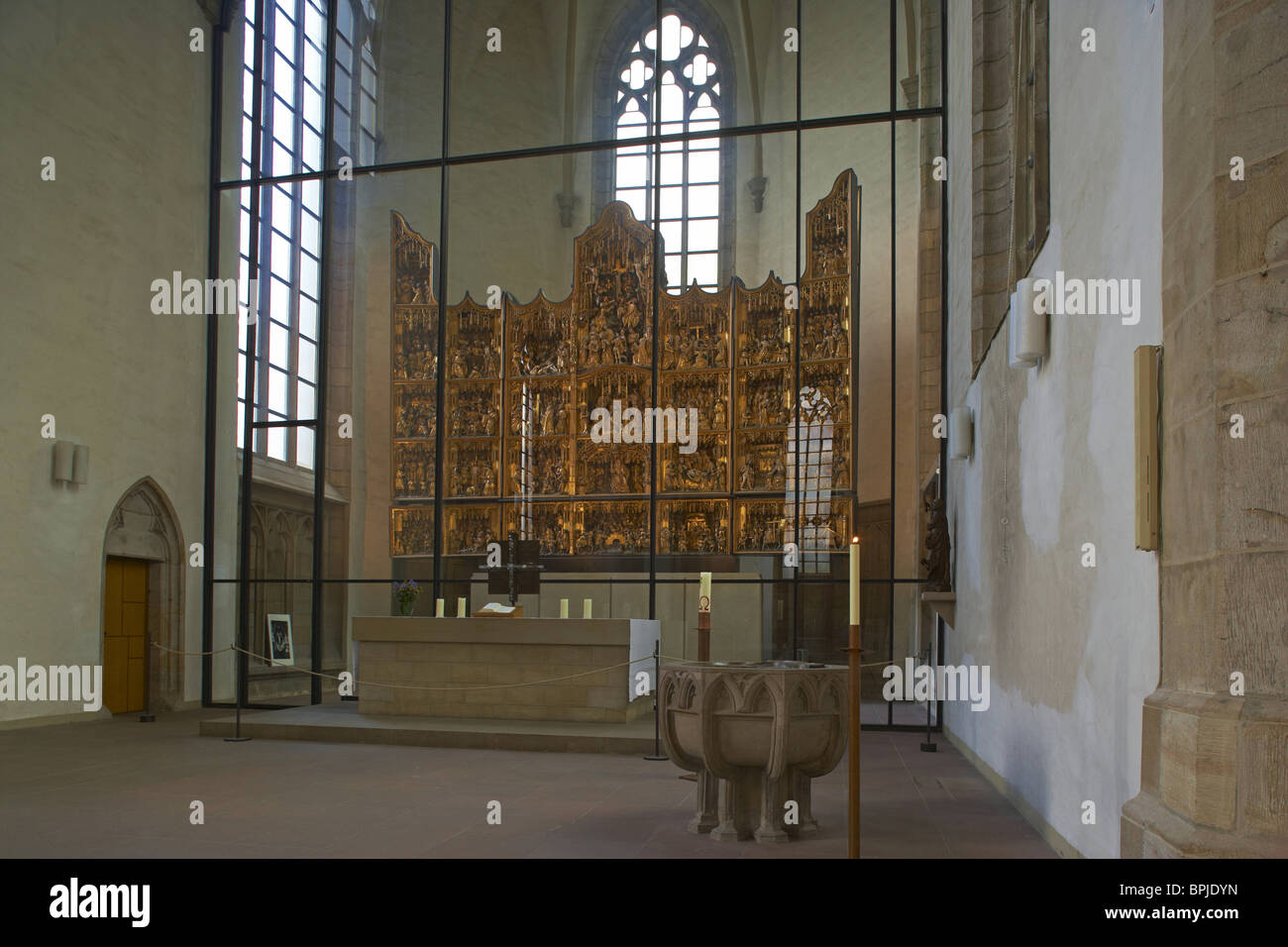 Petrikirche, Indoor photo, Dortmund, Ruhrgebiet, North Rhine-Westphalia, Germany, Europe - Stock Image