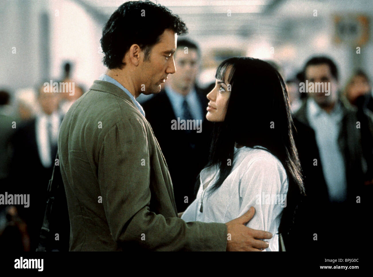 Angelina Jolie Beyond Borders clive owen, angelina jolie, beyond borders, 2003 stock photo