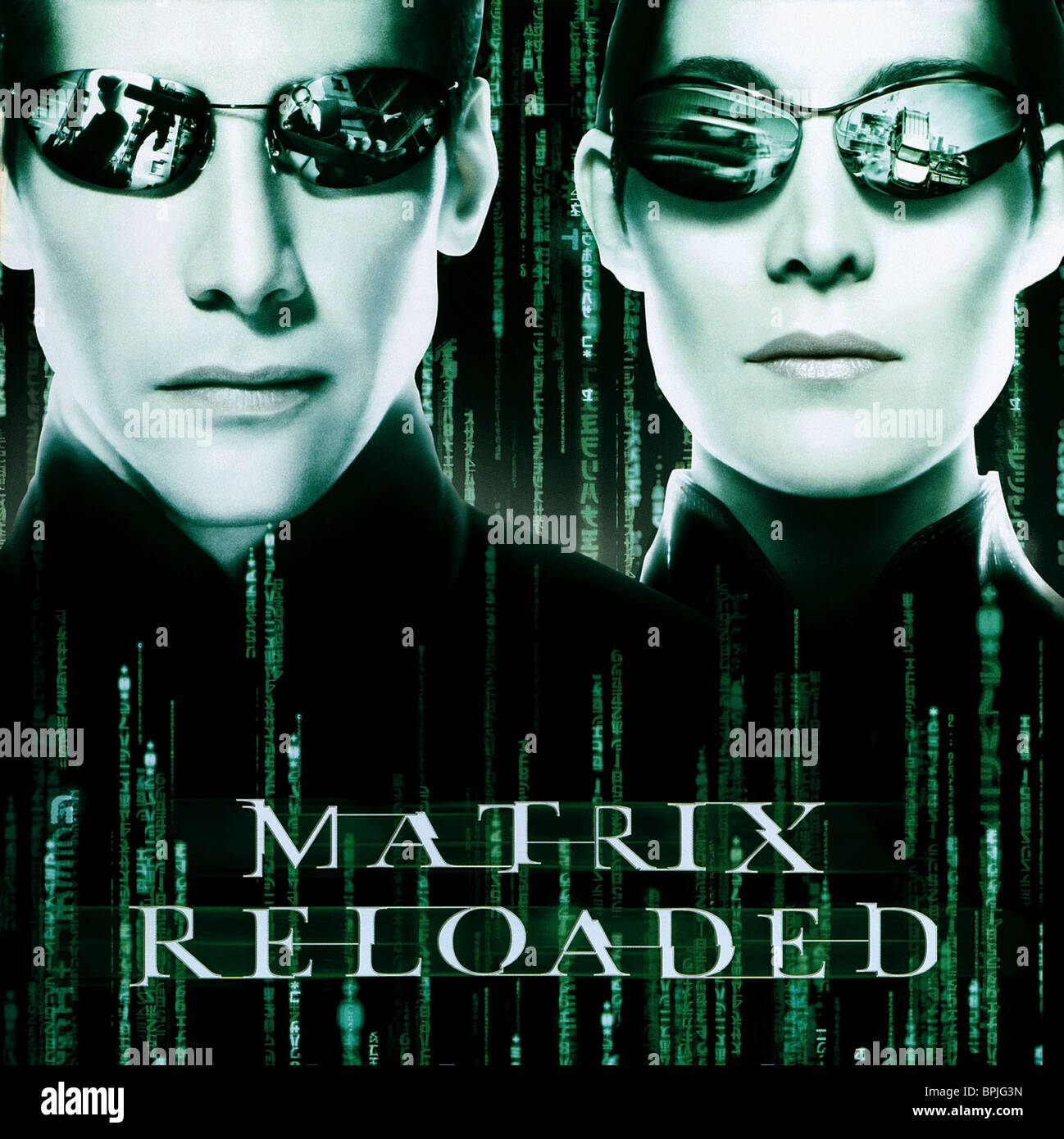 keanu reeves carrie anne moss the matrix reloaded 2003 stock
