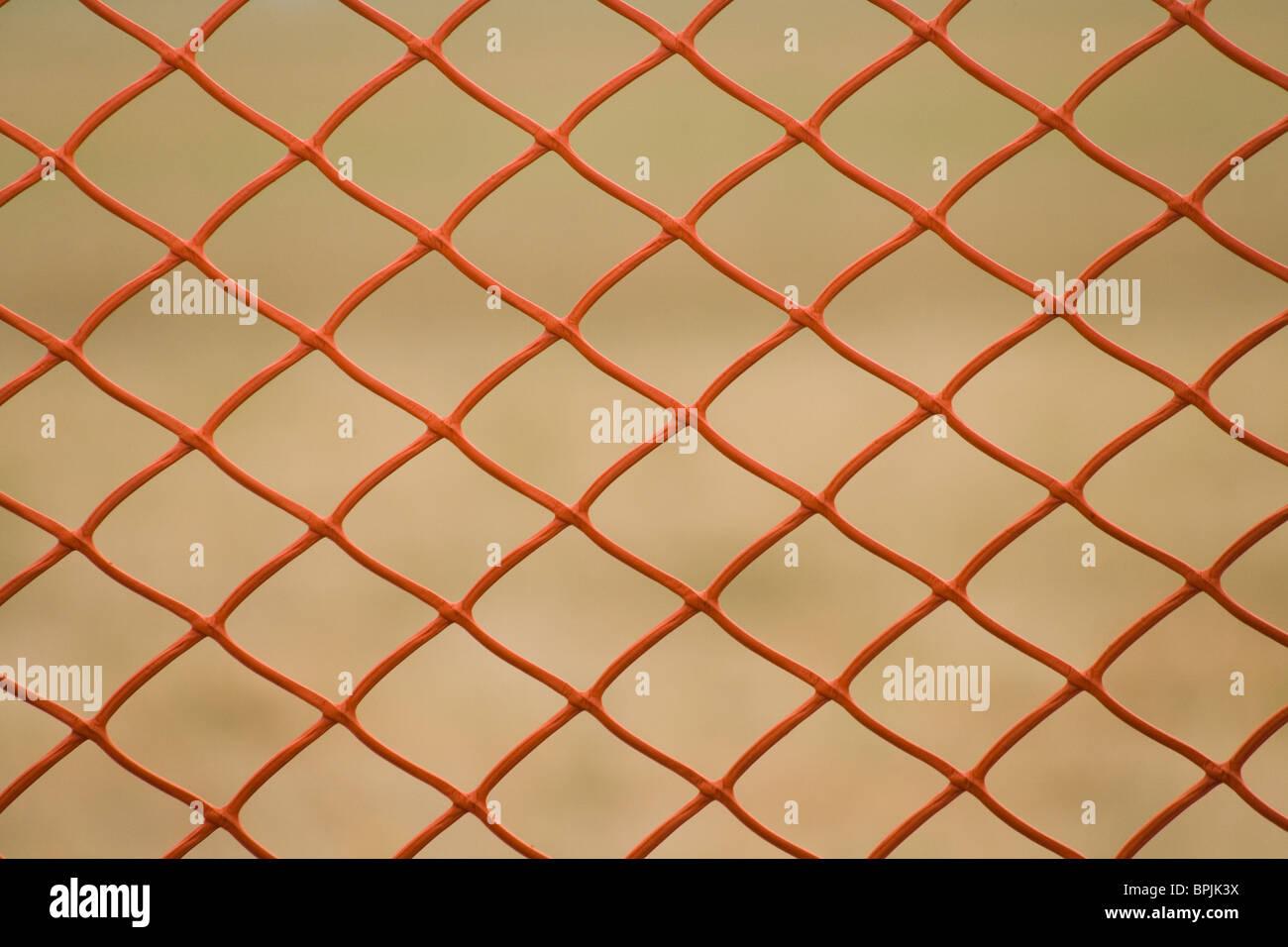 Yellow Netting close up shot - Stock Image