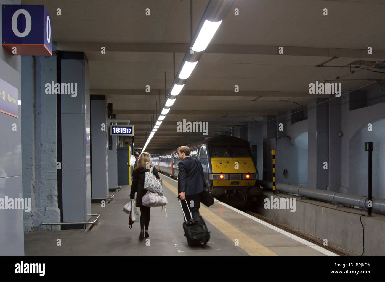 Platform 0 - Kings Cross Station - London - Stock Image