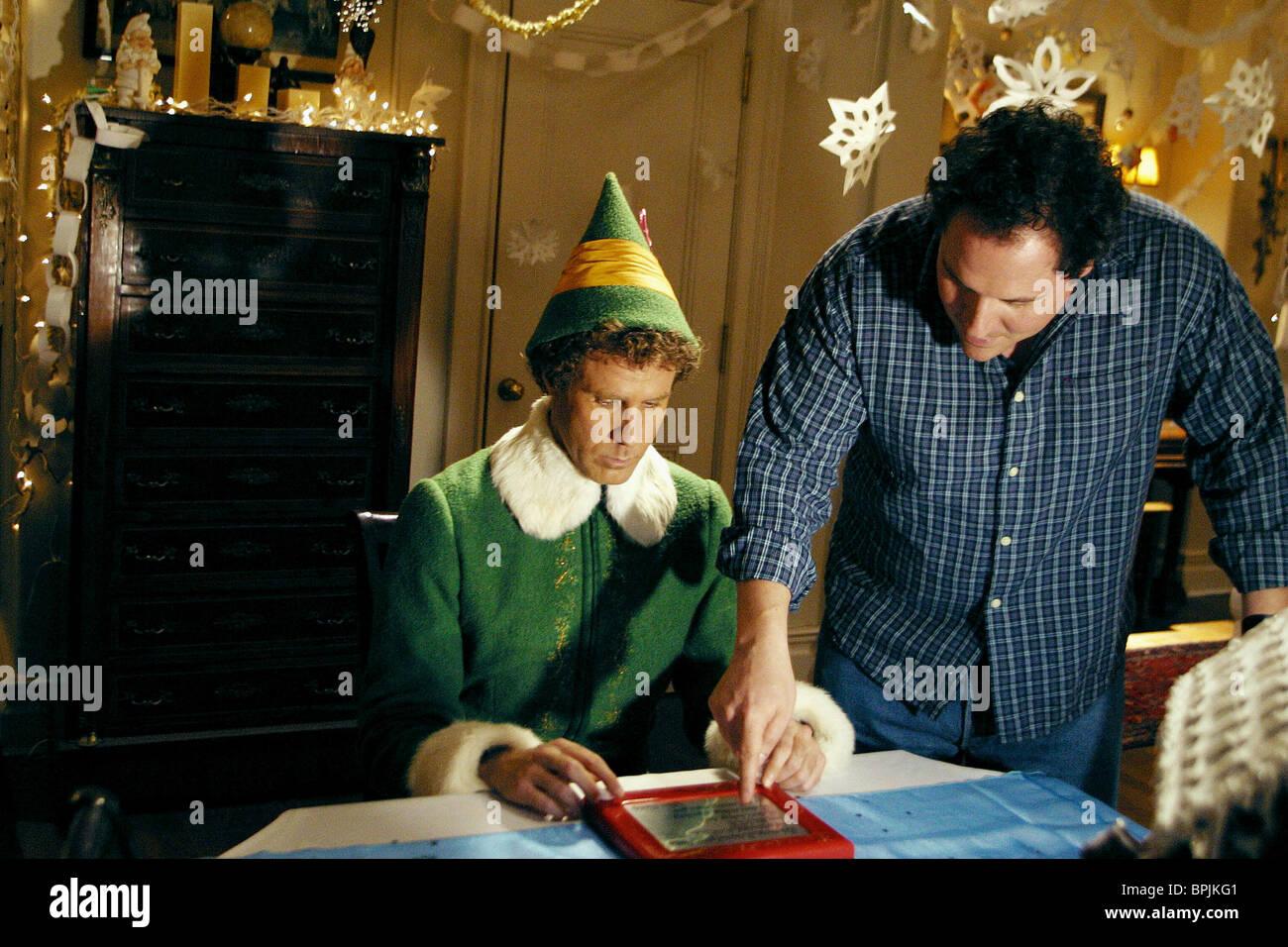 Will Ferrell Jon Favreau Elf 2003 Stock Photo Alamy