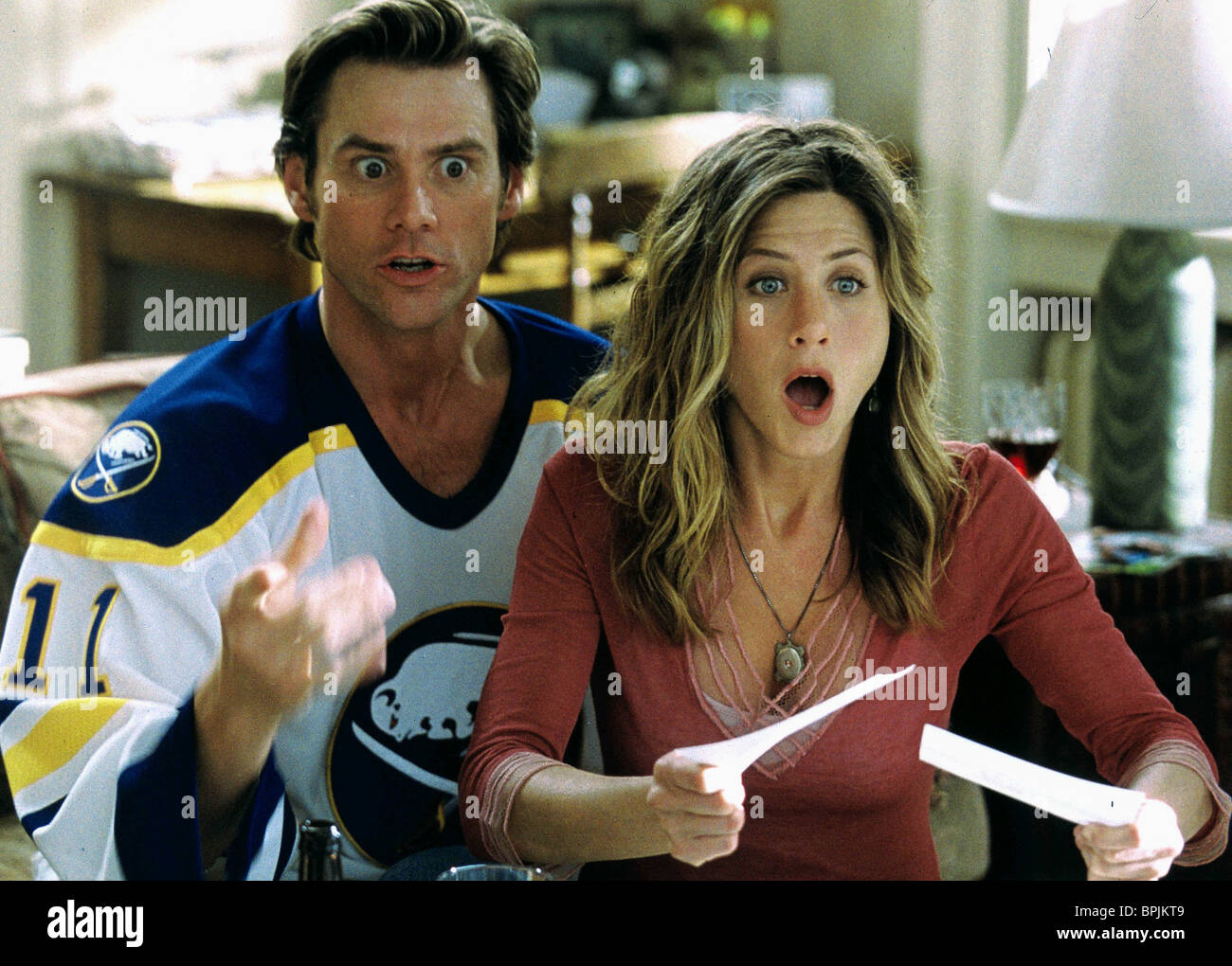 Jim Carrey Jennifer Aniston Bruce Almighty 2003 Stock Photo Alamy