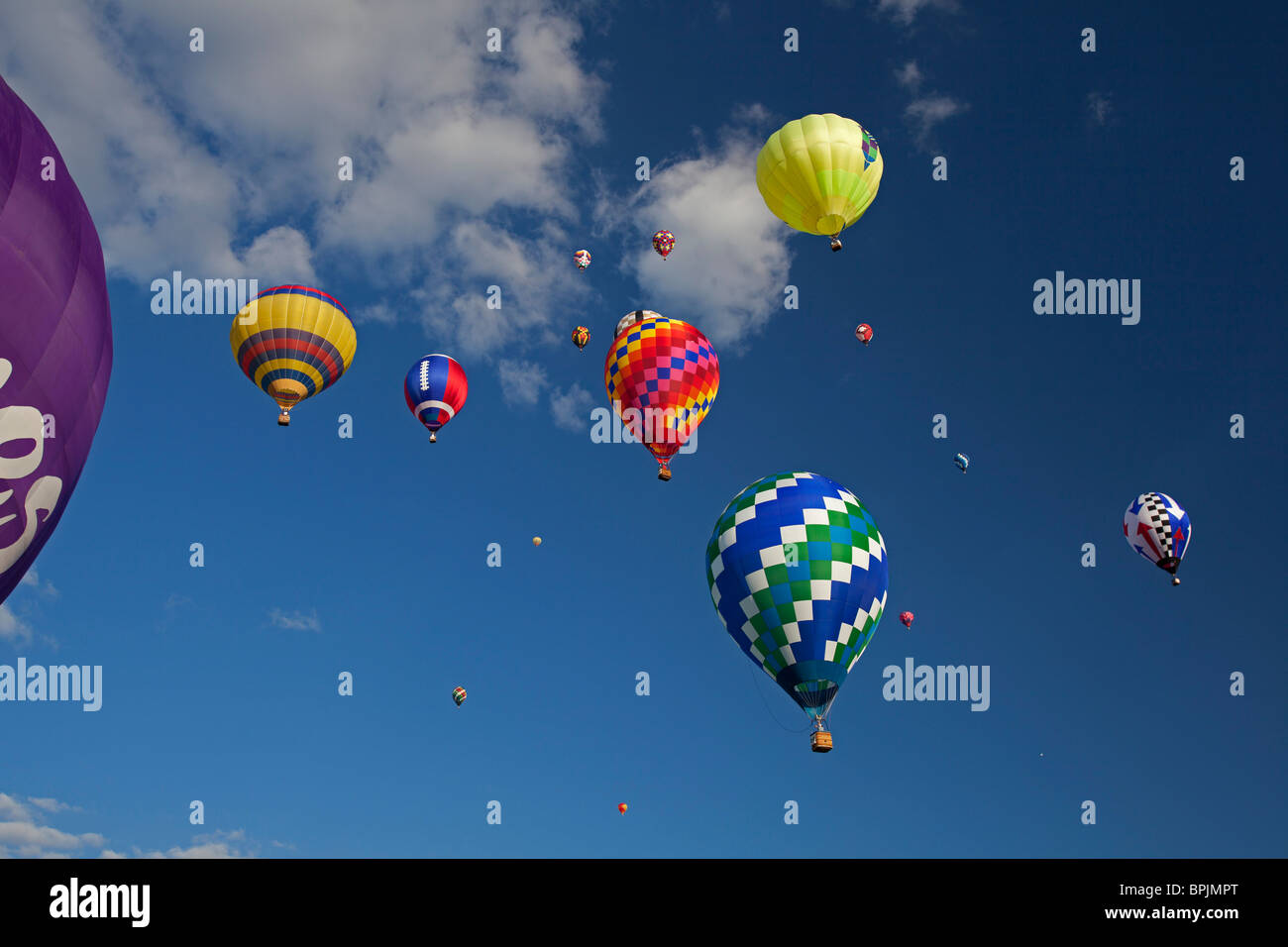 U.S. National Hot Air Balloon Championship Competition Stock Photo