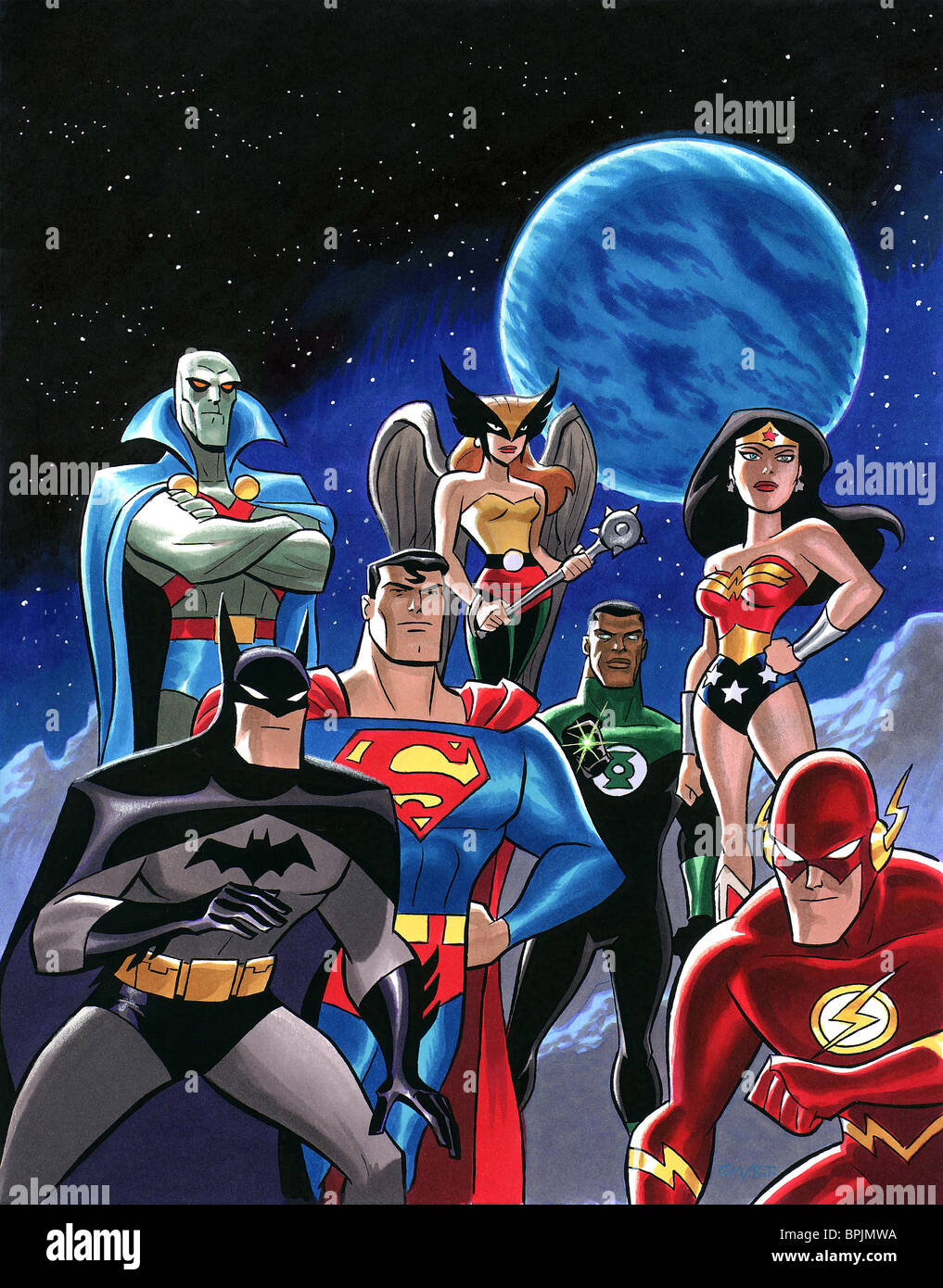 The martian manhunter batman superman hawkgirl green - Superman wonder woman cartoon ...