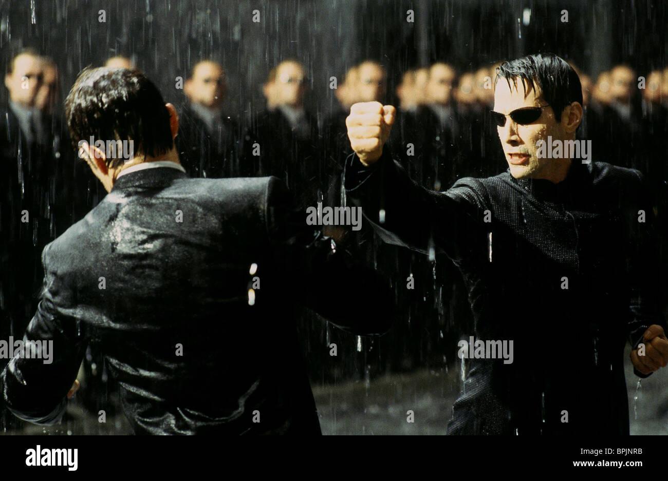 Hugo Weaving Keanu Reeves The Matrix Reloaded 2003 Stock Photo Alamy