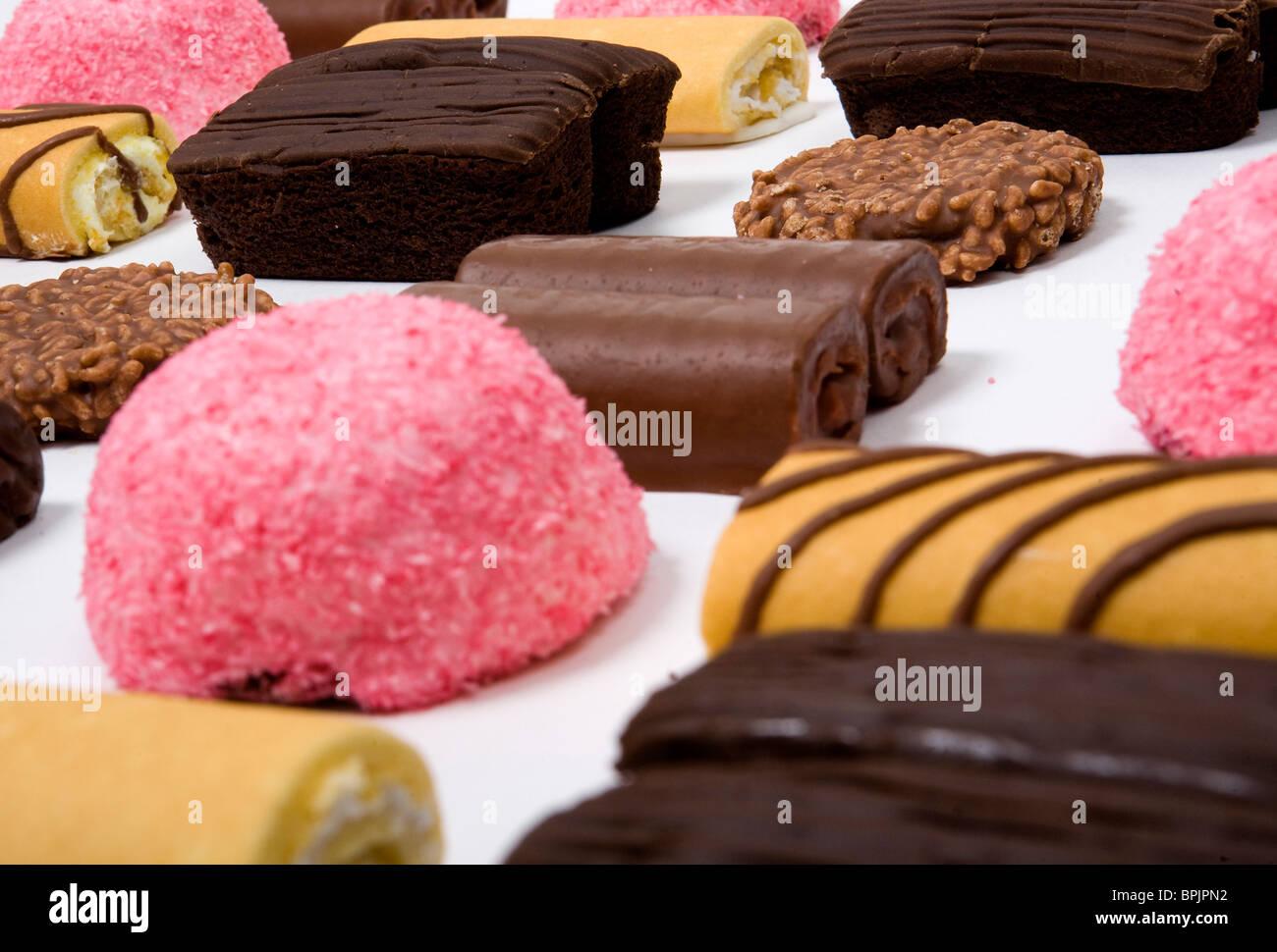 An assortment of junk food items.  - Stock Image