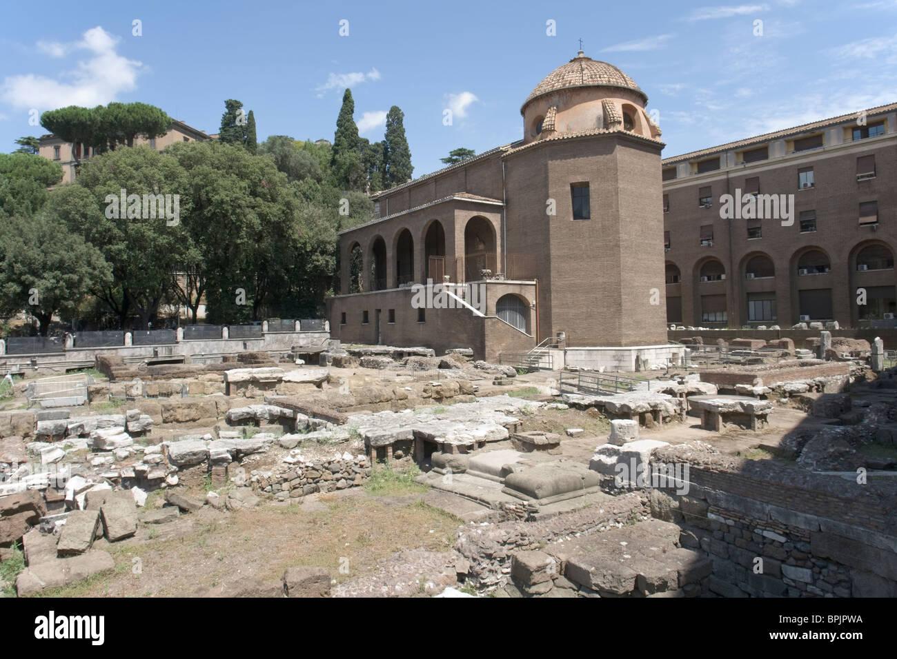 Sant'Omobono and Area Sacra - Stock Image