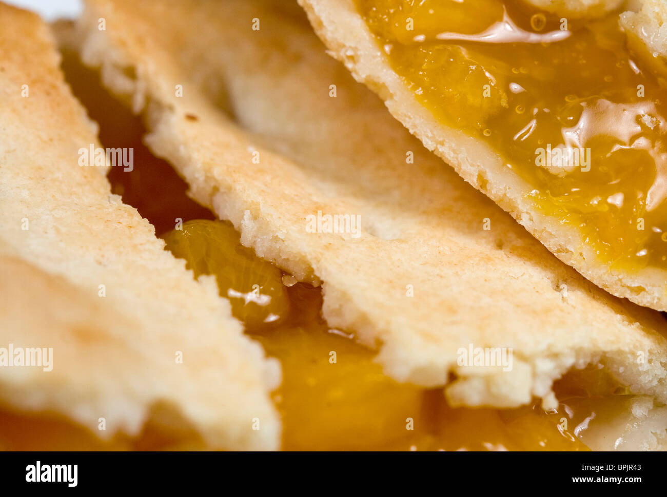 Tastykake Peach fruit pie. - Stock Image