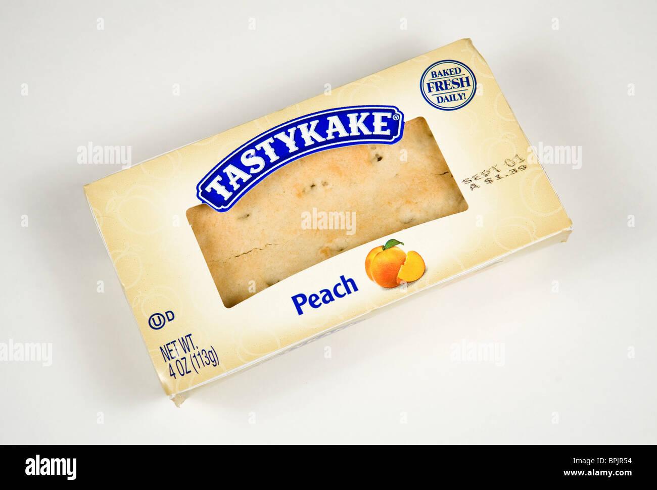 Tastykake Peach fruit pie. - Stock Image