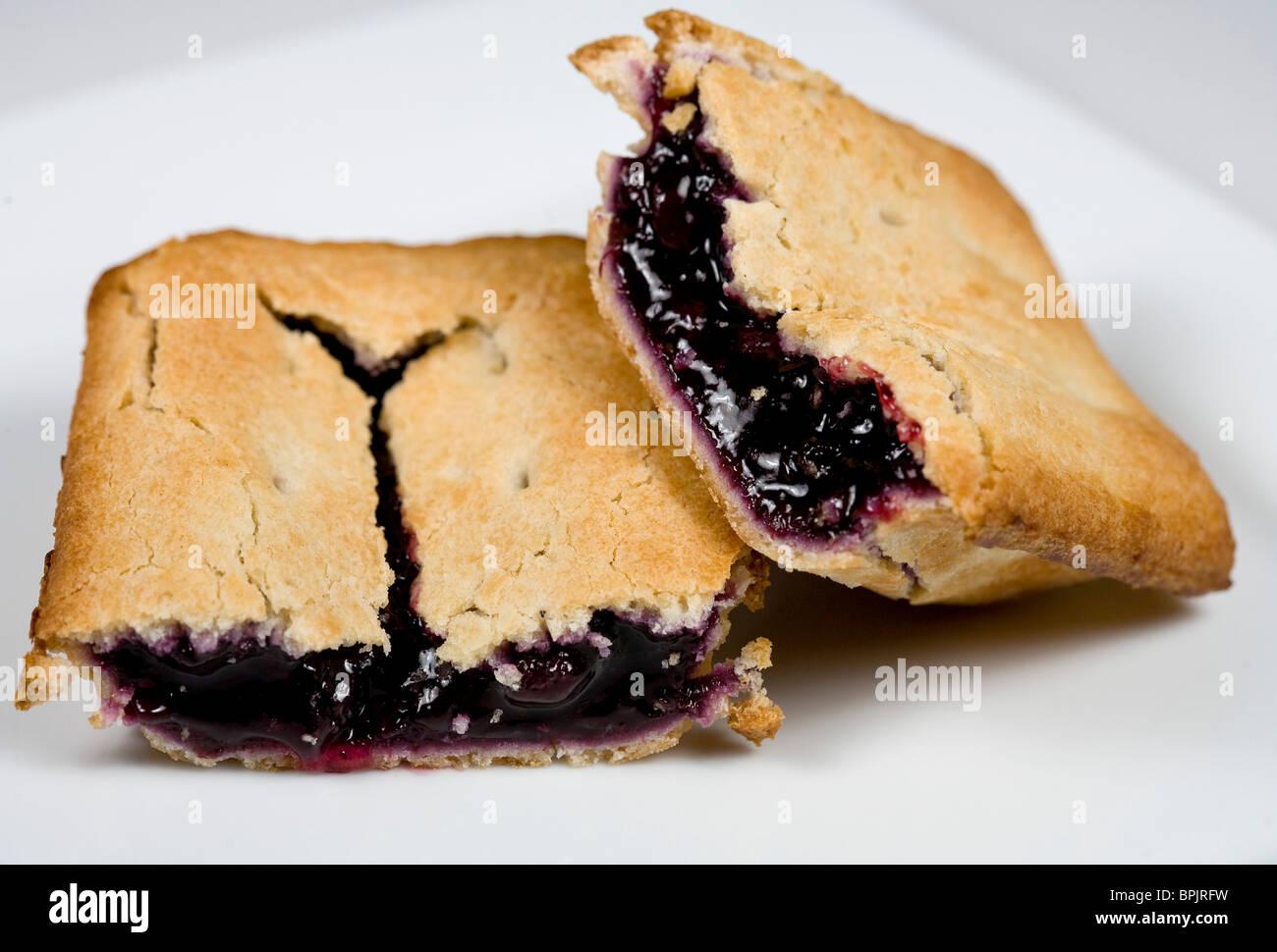 Tastykake blueberry fruit pie. - Stock Image