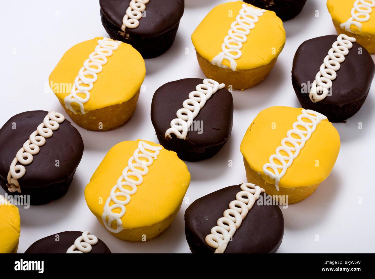 Orange and Chocolate cupcakes. - Stock Image