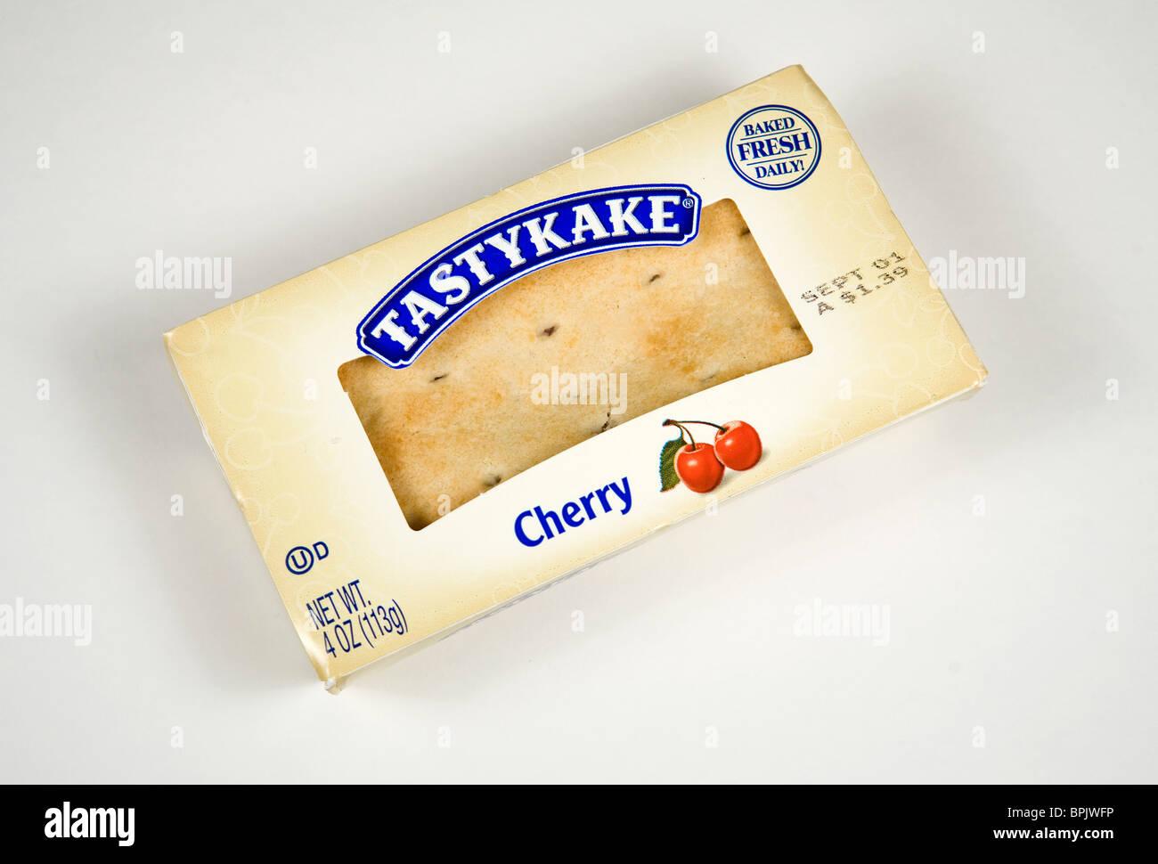Tastykake cherry fruit pie. - Stock Image