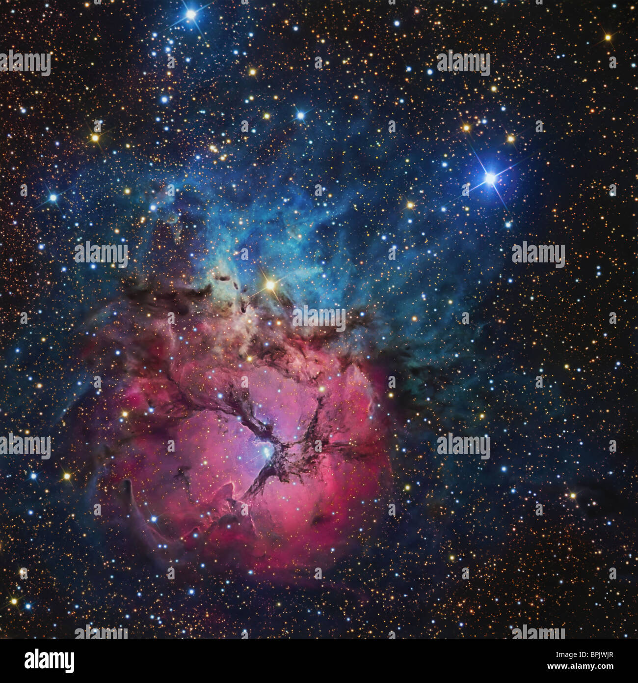 The Trifid Nebula - Stock Image