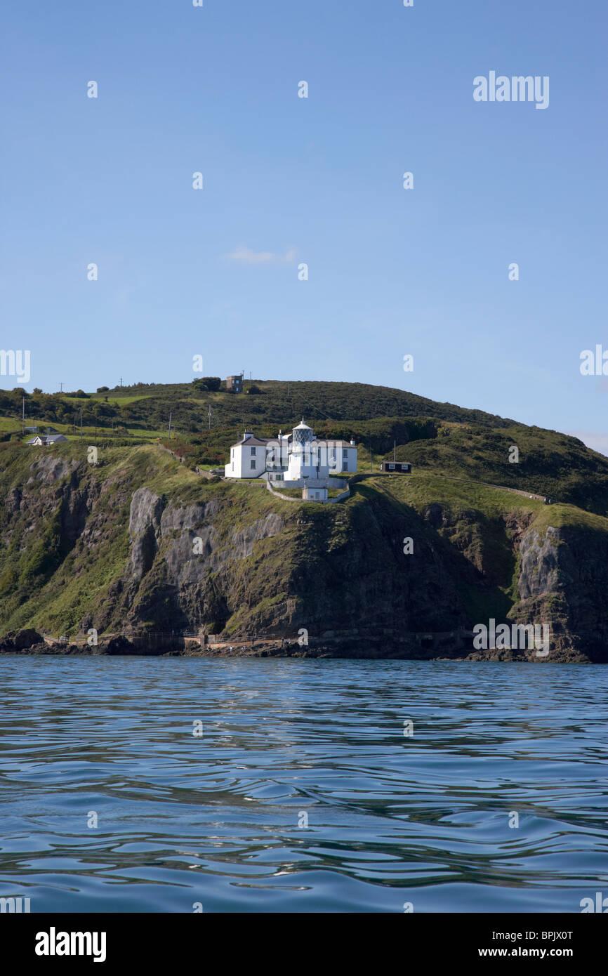 Blackhead lighthouse county antrim northern ireland uk - Stock Image