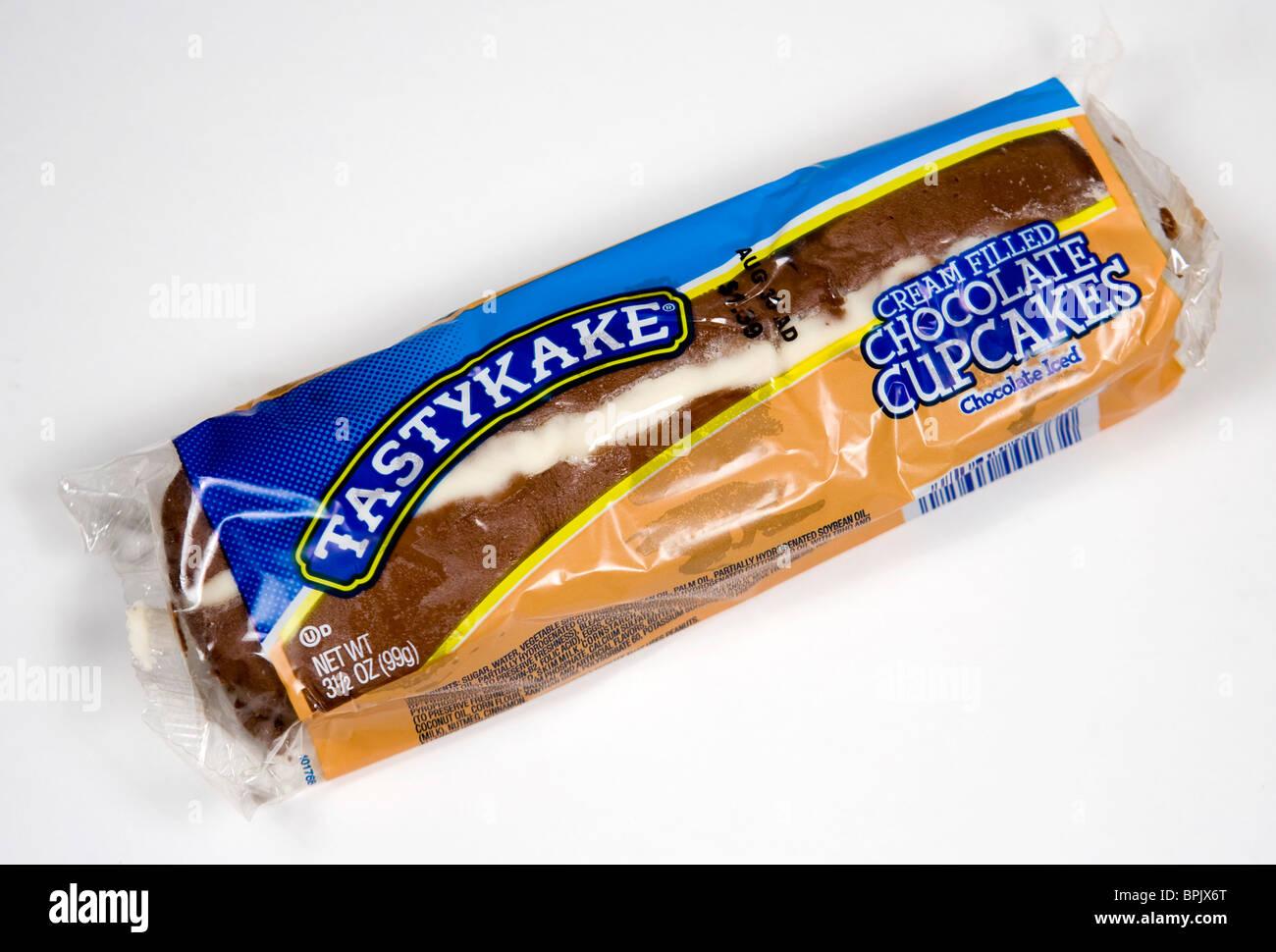 Tastykake Chocolate Cupcakes - Stock Image