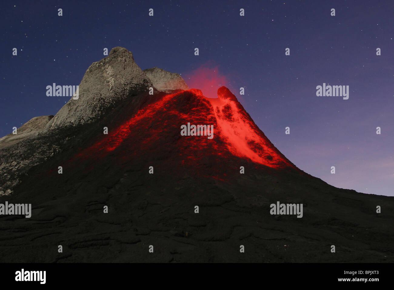 July 5, 2004 - Ol Doinyo Lengai eruption, Rift valley, Tanzania. - Stock Image