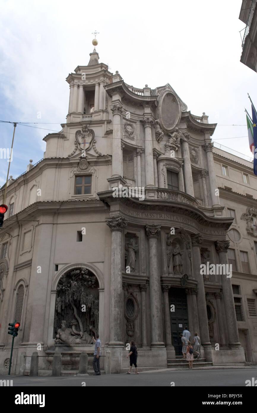 San Carlo alle Quattro Fontane, Rome, Italy - Stock Image
