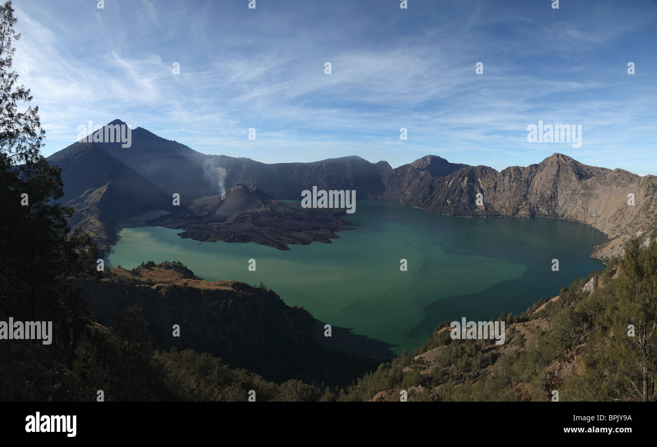 August 29, 2009 - Rinjani eruption, Lombok Island, Indonesia. - Stock Image