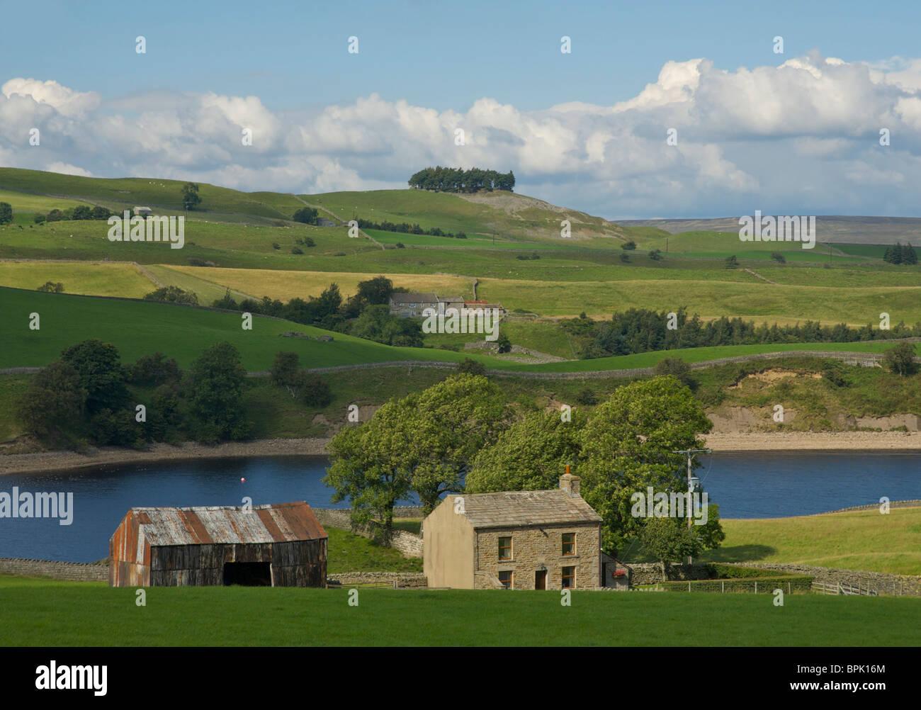 Grassholme Reservoir, Lunedale, near Middleton-in-Teesdale, County Durham, England, UK - Stock Image
