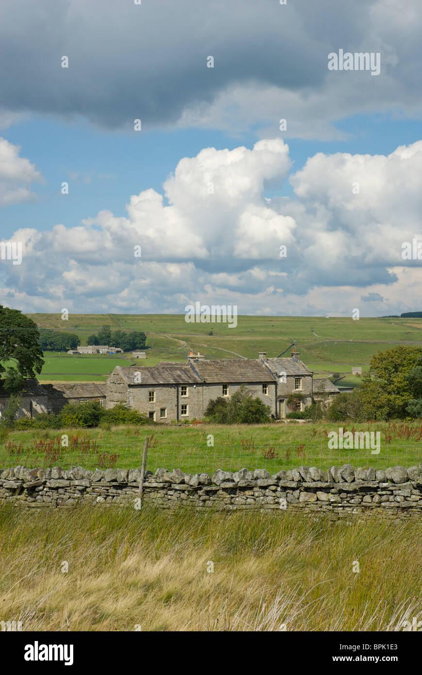 Farmhouse, Baldersdale, County Durham, England UK Stock Photo