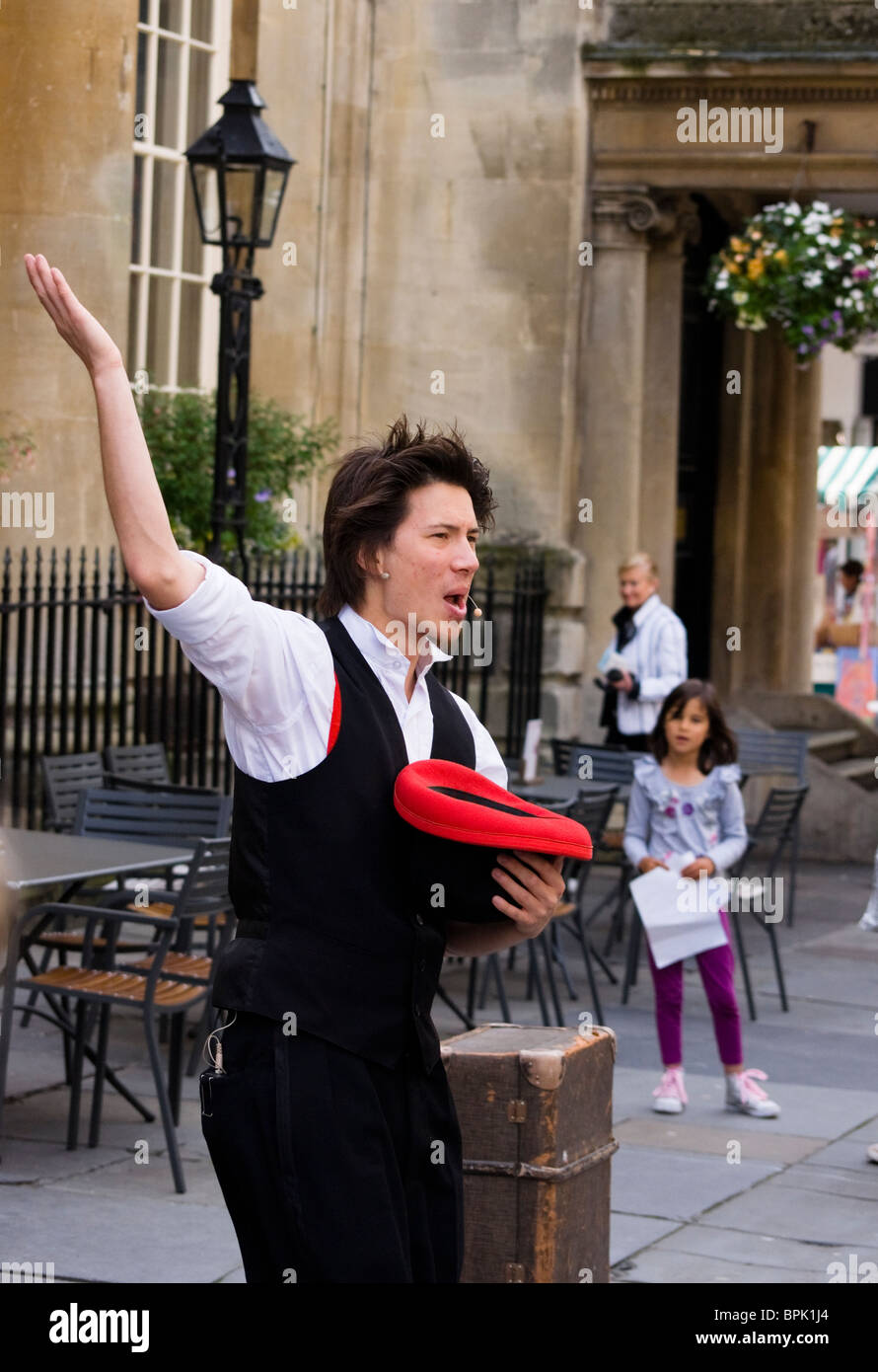Street Theater and Busker's Bath Somerset England UK - Stock Image