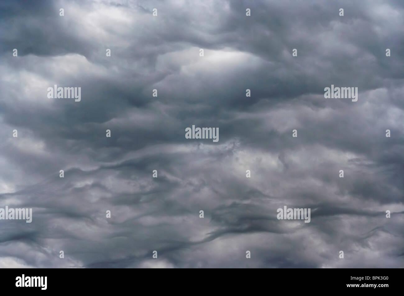 Shot of the dark clouds before rain - Stock Image