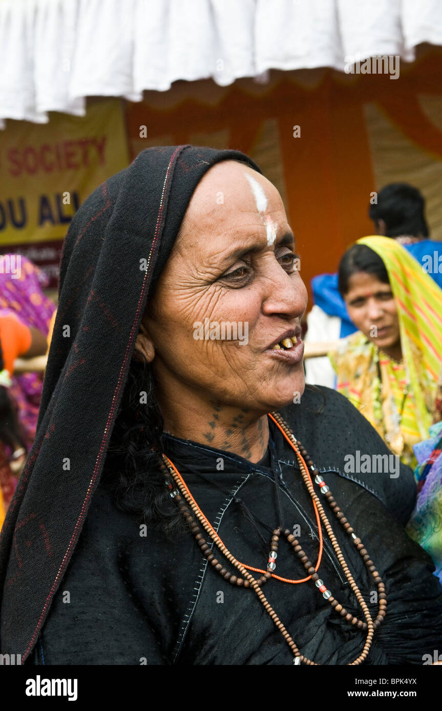 A Rabari woman from Kutch. - Stock Image