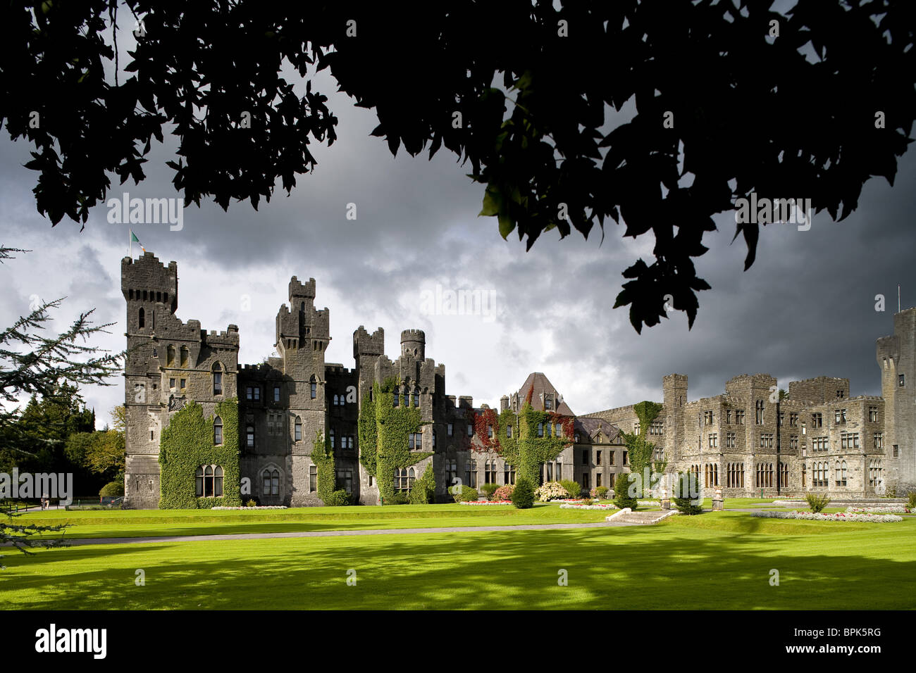 Ashford Castle near Cong, County Mayo, Ireland, Europe - Stock Image