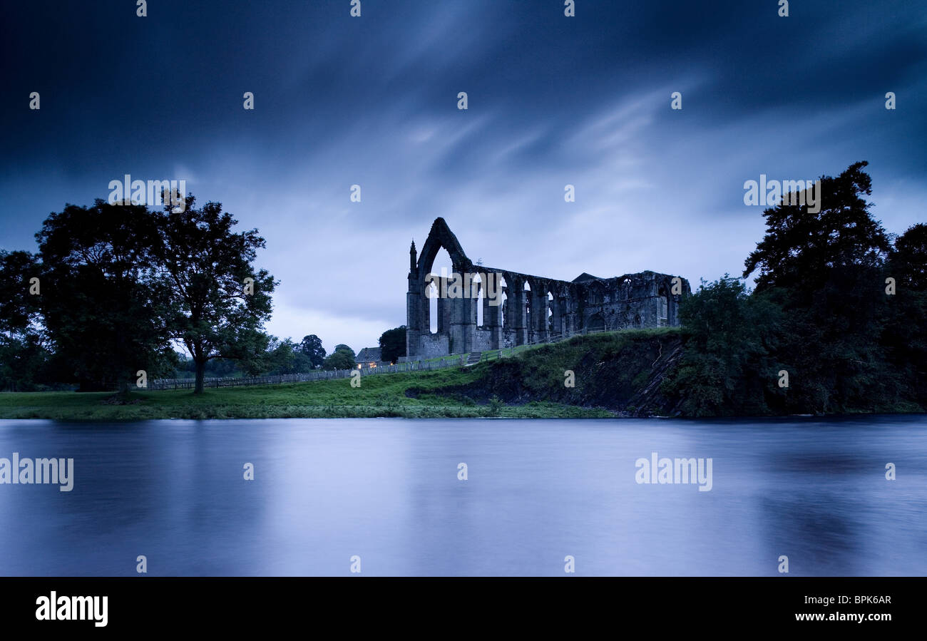 Bolton Abbey near Skipton, Wharfedale, Yorkshire Dales, North Yorkshire, England, Great Britain, Europe - Stock Image