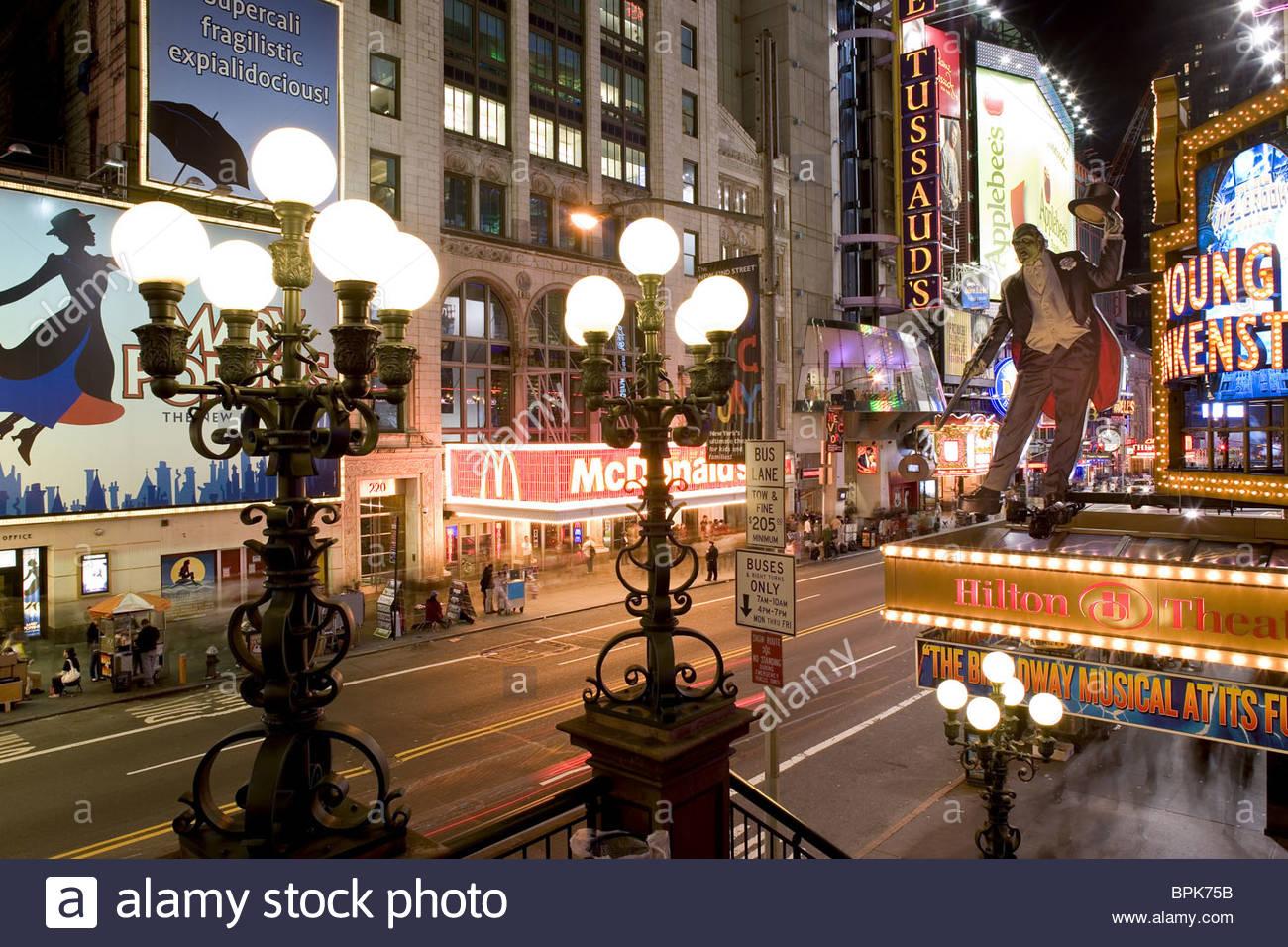 42nd Street, Times Square, Downtown Manhattan, New York City, New York, North America, USA - Stock Image