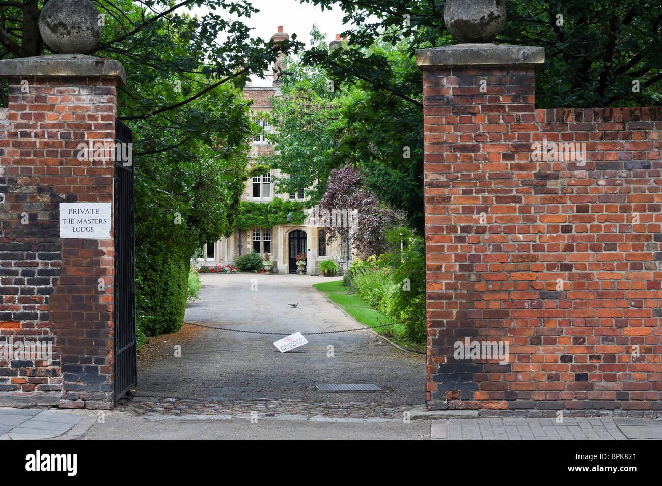 Master's lodge, Jesus college, Cambridge university. - Stock Image