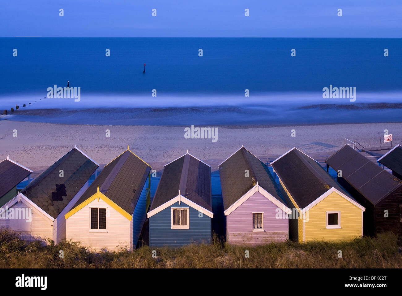 Beach huts in Southwold, East Anglia, Suffolk, England, Great Britain, Europe - Stock Image