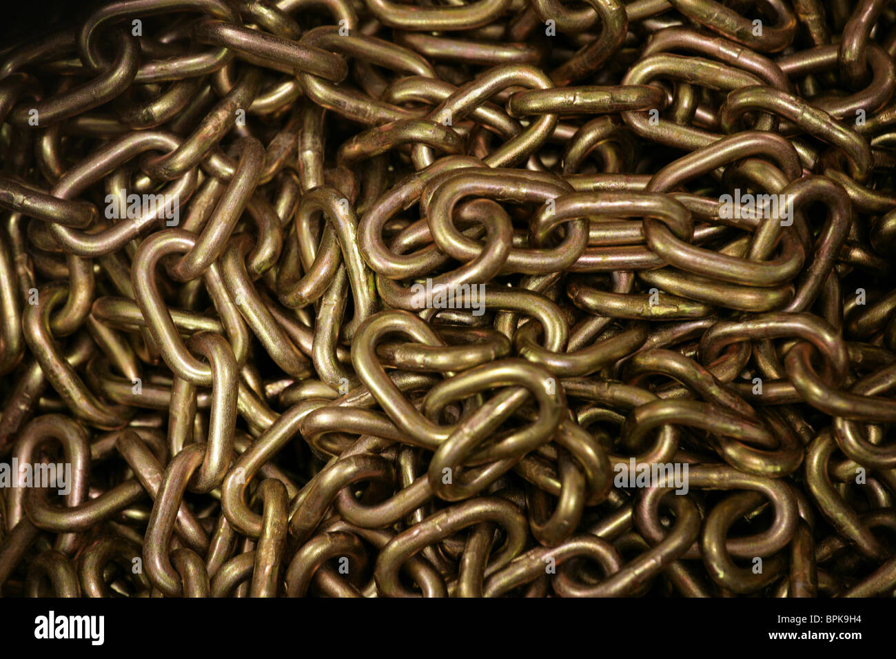 A pile of chains - Stock Image