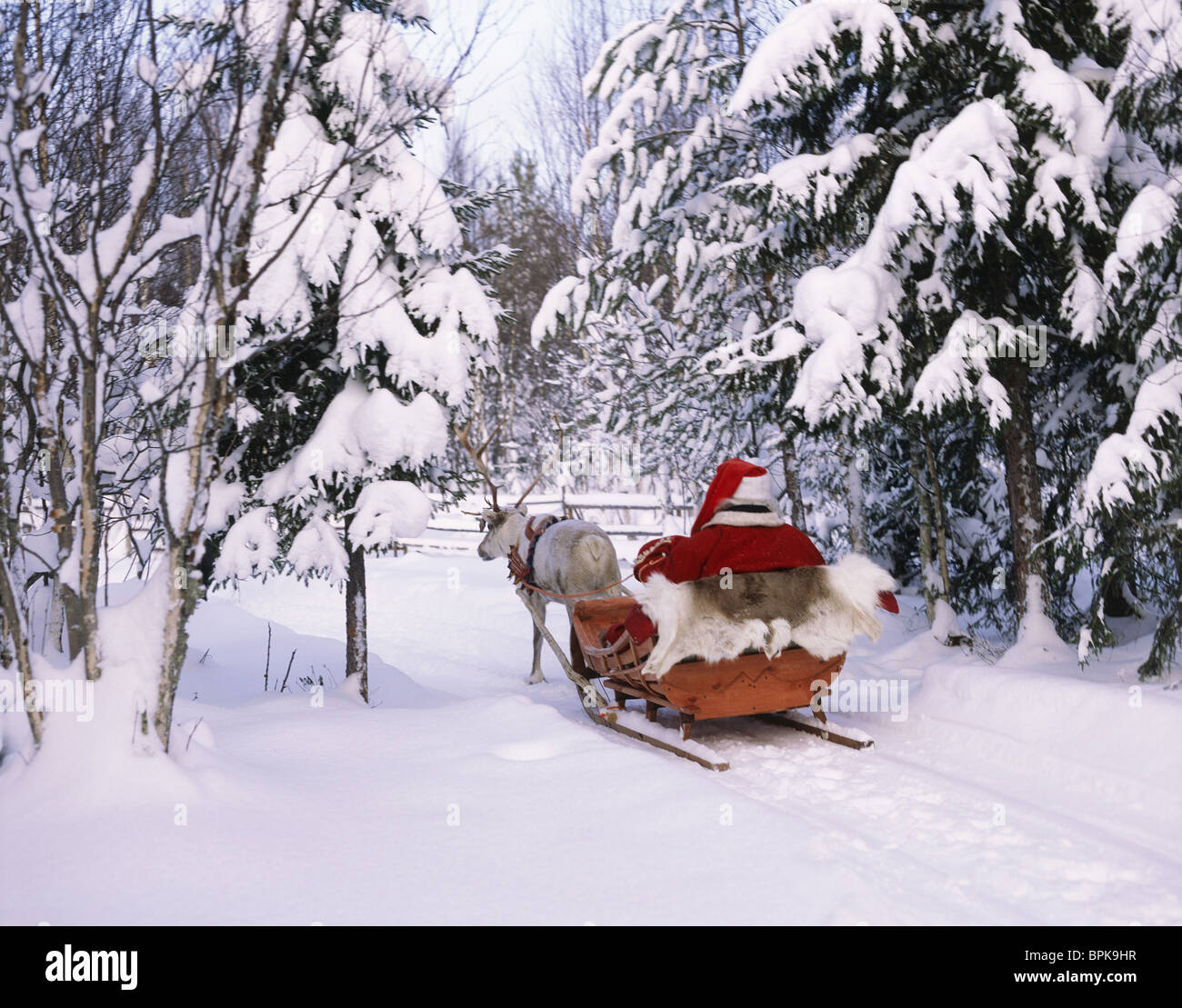 Santa Claus, Lappland, Finland - Stock Image