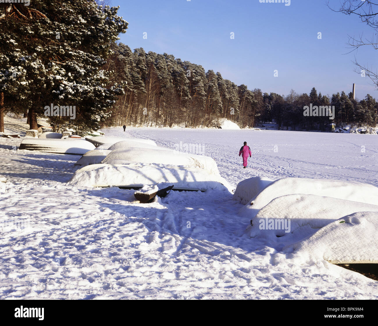 Lake Pyhajarvi, Tampere, Finland - Stock Image