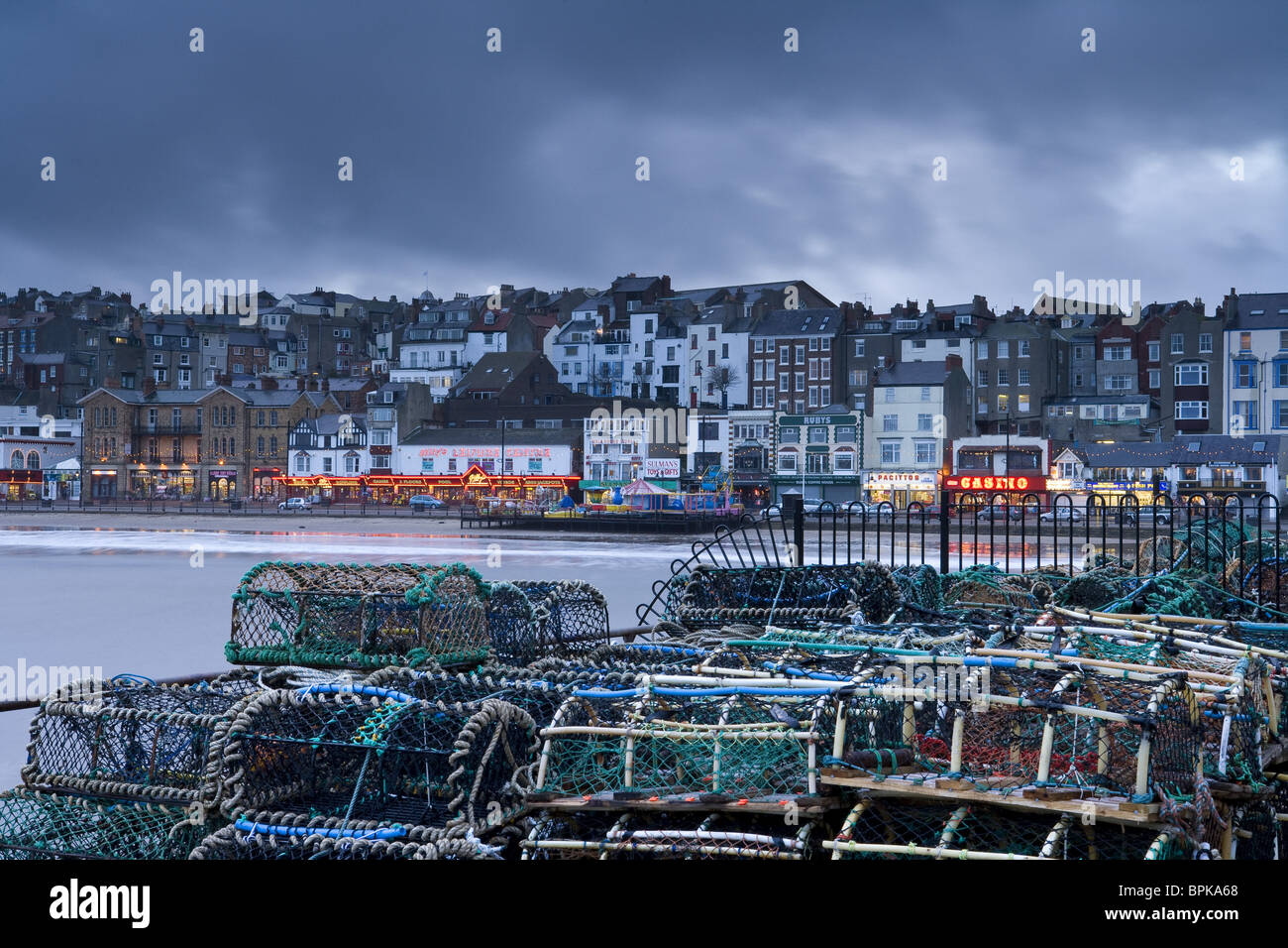 Seaside town of Scarborough, North Yorkshire, England, Great Britain, Europe - Stock Image