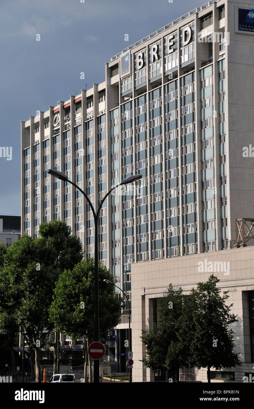 banks Bred Banque Populaire and Credit Agricole, Paris, France - Stock Image
