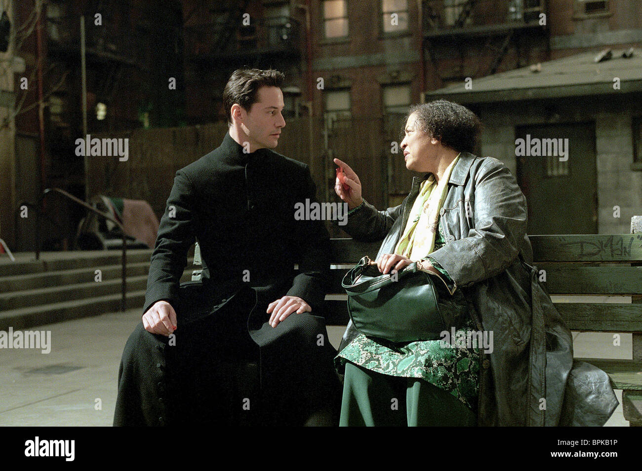 Keanu Reeves Gloria Foster The Matrix Reloaded 2003 Stock Photo Alamy
