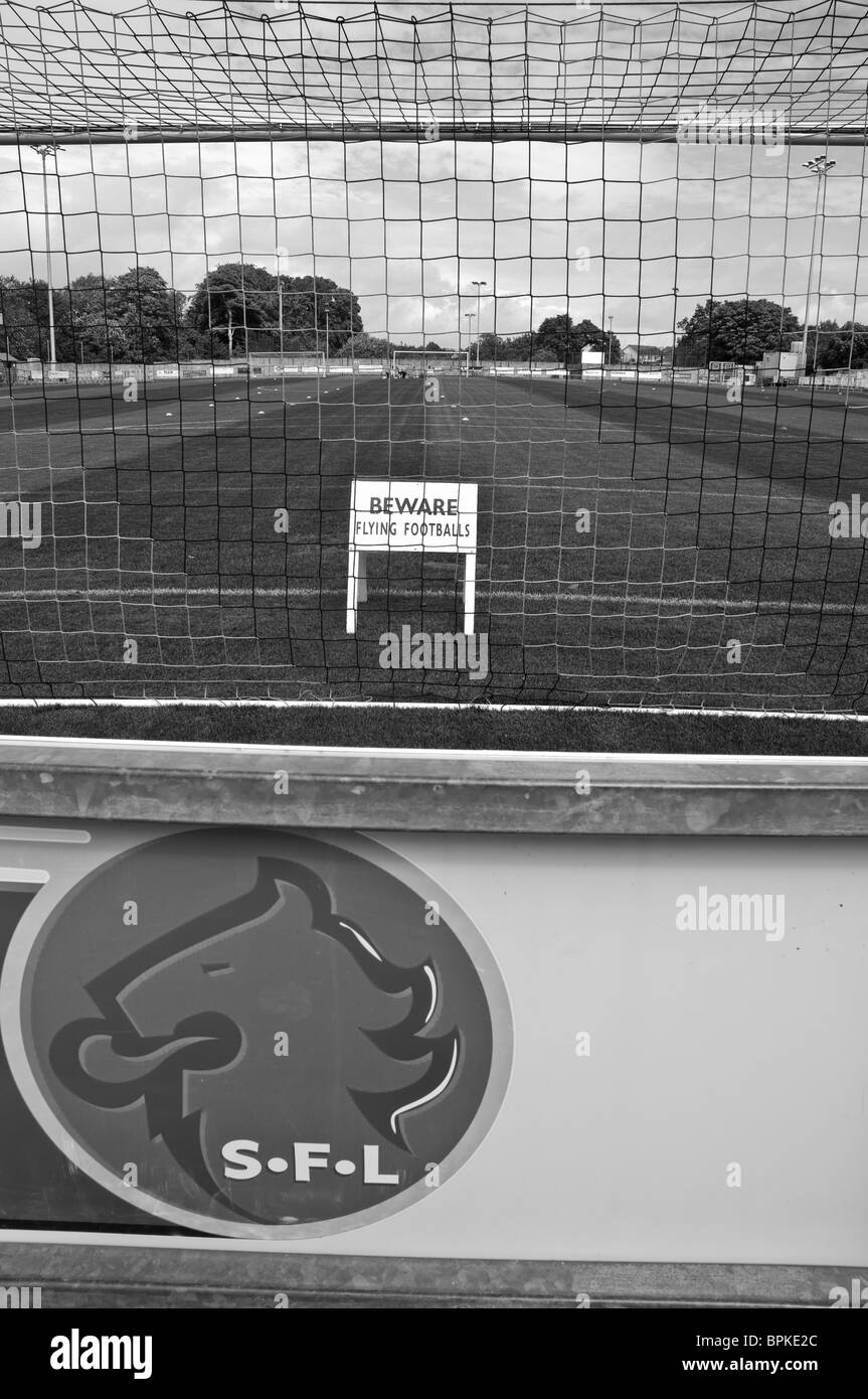 ANNAN ATHLETIC FOOTBALL CLUB GALABANK STADIUM ANNAN FUNNY SIGN - Stock Image