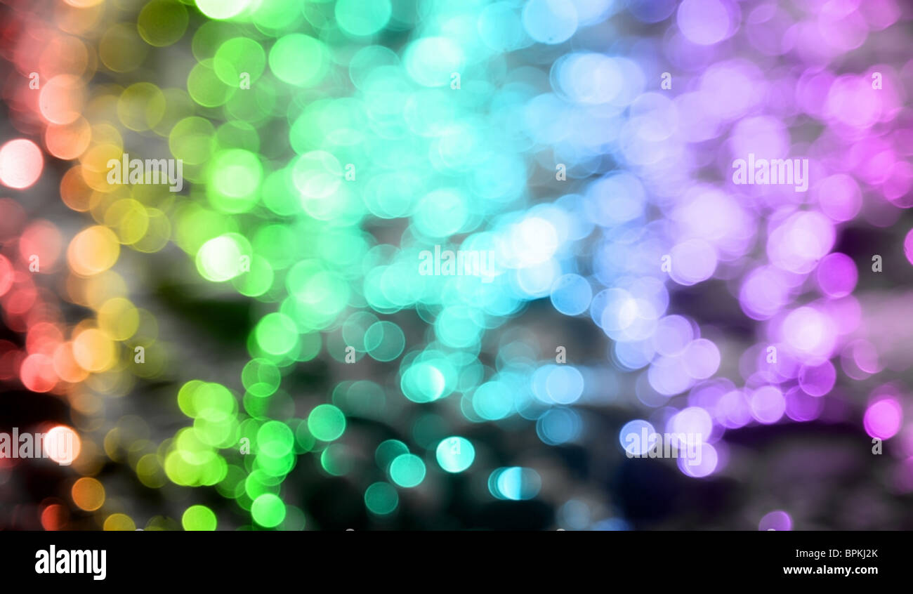 Background with colored circles with all colors of the rainbow. - Stock Image