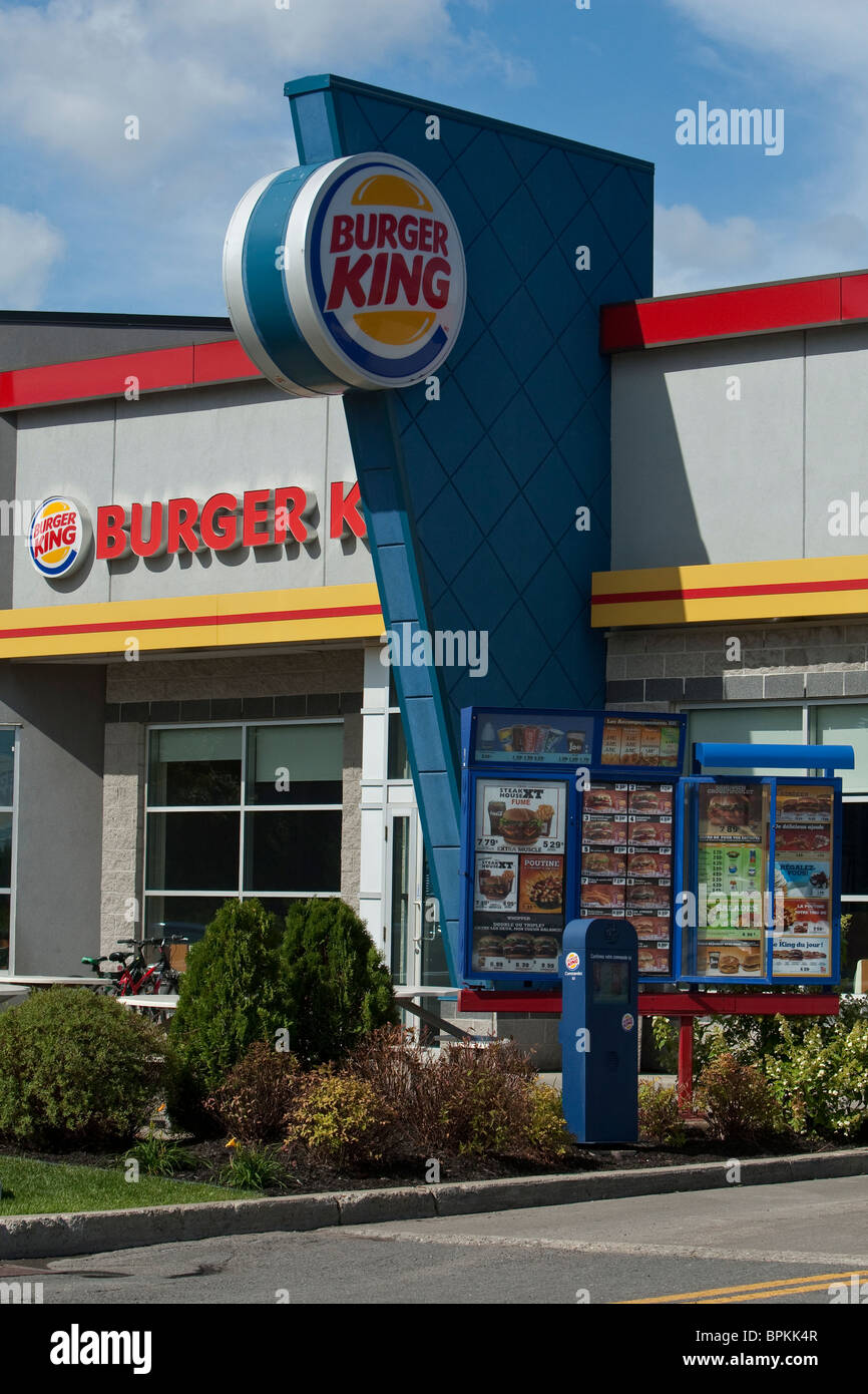A Burger King restaurant is seen in Levis, just South of Quebec City August 27, 2010. The Canadian Press Images/Francis - Stock Image