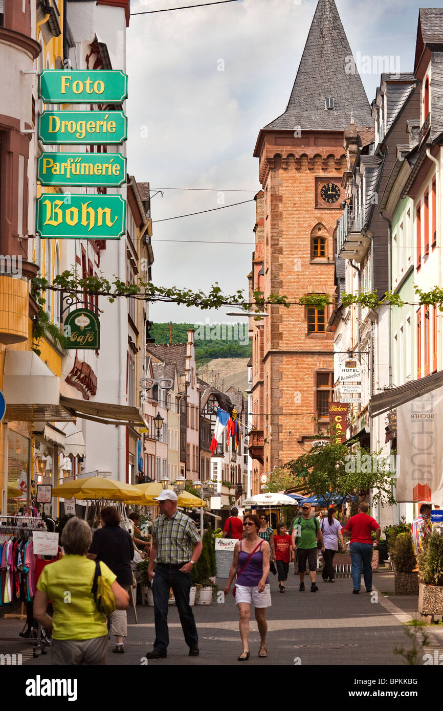Street Scene in Zell, Mosel Valley, Germany - Stock Image