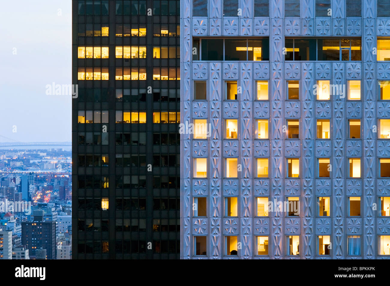 The Mobil Building on 42nd Street, New York City. - Stock Image